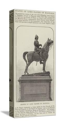 Statue of Lord Napier of Magdala--Stretched Canvas Print