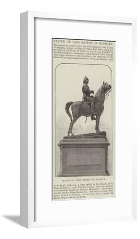 Statue of Lord Napier of Magdala--Framed Art Print