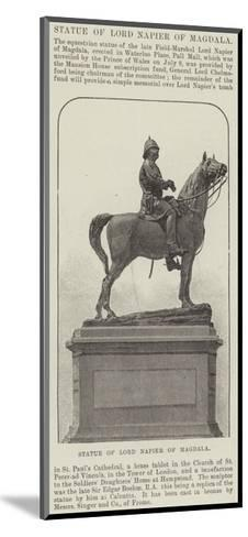 Statue of Lord Napier of Magdala--Mounted Giclee Print