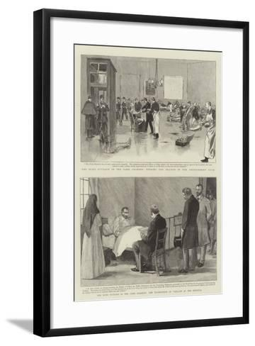 The Bomb Outrage in the Paris Chamber--Framed Art Print