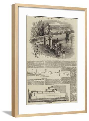 The Late Railway Accident, at Chester--Framed Art Print