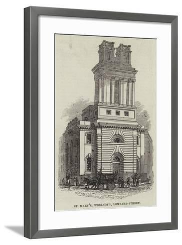 St Mary'S, Woolnoth, Lombard-Street--Framed Art Print