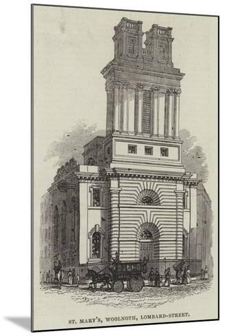 St Mary'S, Woolnoth, Lombard-Street--Mounted Giclee Print