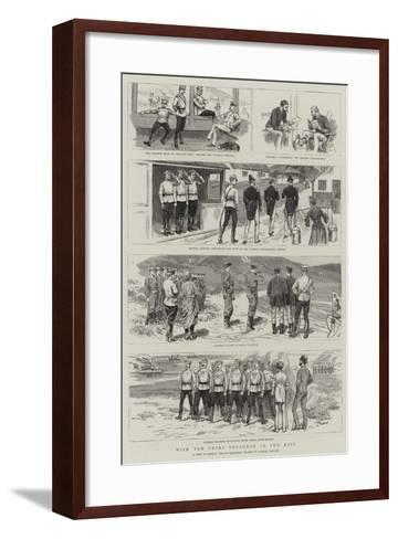 With the China Squadron in the East--Framed Art Print