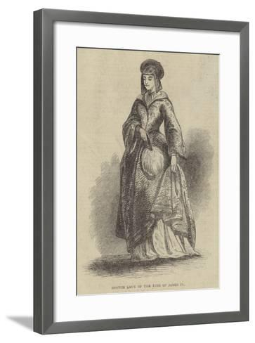 Scotch Lady of the Time of James IV--Framed Art Print