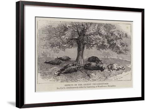 Effects of the Recent Thunderstorm--Framed Art Print
