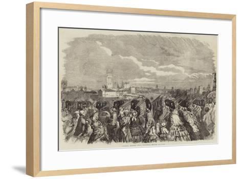Guards Passing over Vauxhall-Bridge--Framed Art Print
