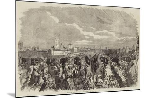 Guards Passing over Vauxhall-Bridge--Mounted Giclee Print