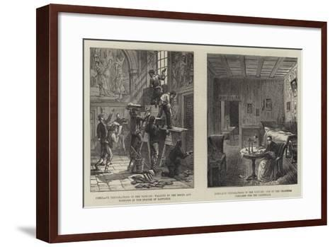 Conclave Preparations in the Vatican--Framed Art Print