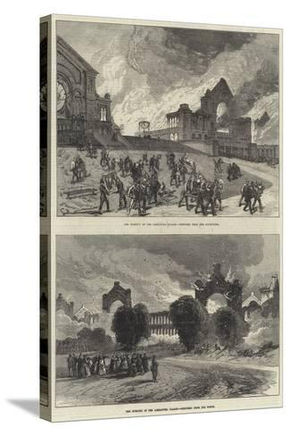 The Burning of the Alexandra Palace--Stretched Canvas Print