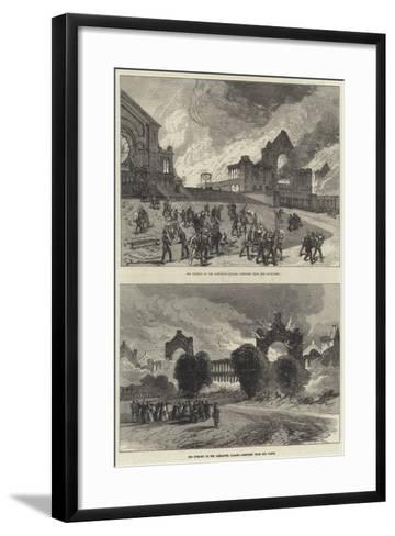 The Burning of the Alexandra Palace--Framed Art Print