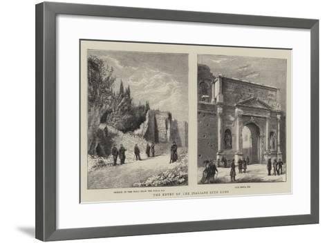 The Entry of the Italians into Rome--Framed Art Print