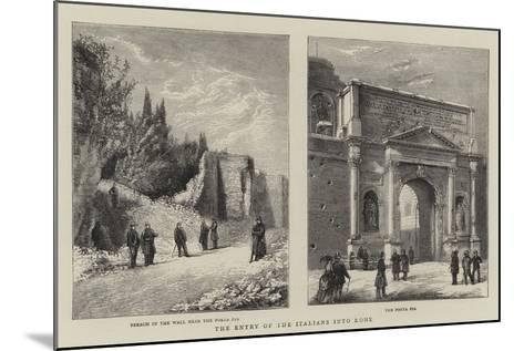 The Entry of the Italians into Rome--Mounted Giclee Print