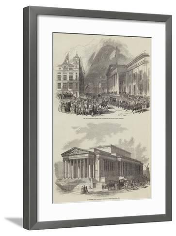 Her Majesty's Visit to Lancashire--Framed Art Print