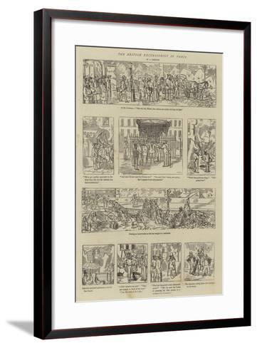 The British Excursionist in Paris--Framed Art Print