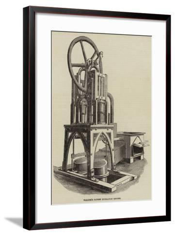 Walker's Patent Hydraulic Engine--Framed Art Print