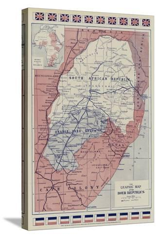The Graphic Map of the Boer Republics--Stretched Canvas Print