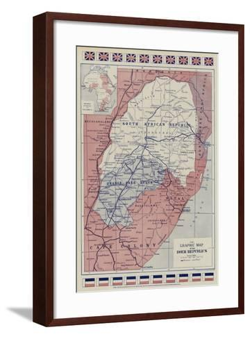 The Graphic Map of the Boer Republics--Framed Art Print