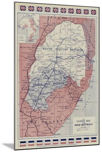 The Graphic Map of the Boer Republics--Mounted Giclee Print