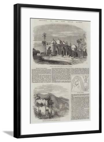Sketches on the East Indian Railway--Framed Art Print