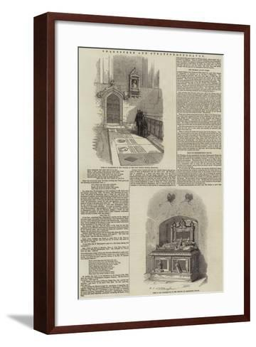 Shakespere and Stratford-Upon-Avon--Framed Art Print