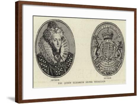 The Queen Elizabeth Silver Medallion--Framed Art Print