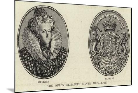 The Queen Elizabeth Silver Medallion--Mounted Giclee Print