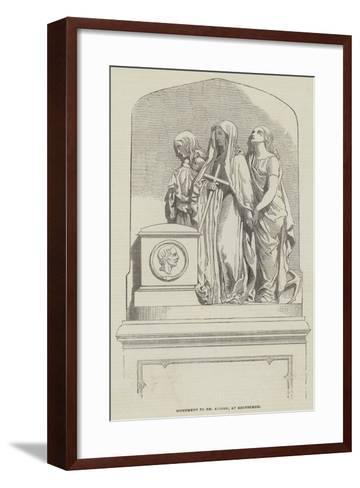 Monument to Dr Alison, at Edinburgh--Framed Art Print
