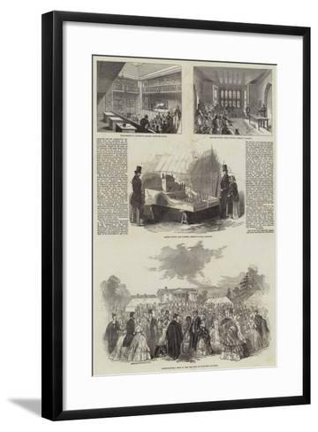 British Association in Cambridge--Framed Art Print