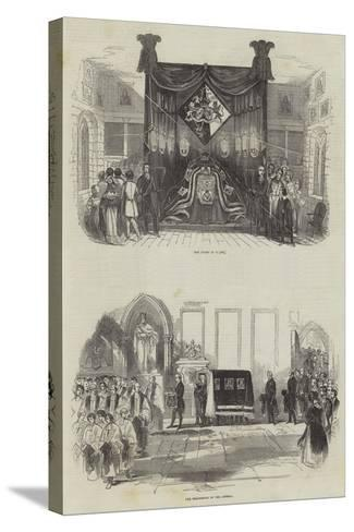 Funeral of the Late Marquis Wellesley--Stretched Canvas Print