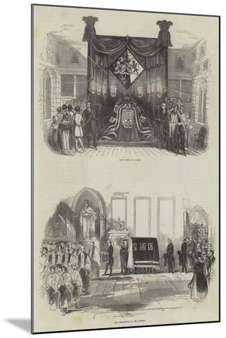 Funeral of the Late Marquis Wellesley--Mounted Giclee Print