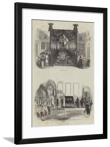 Funeral of the Late Marquis Wellesley--Framed Art Print