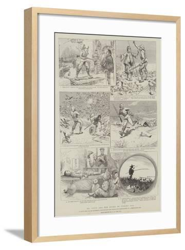 Mr Pipys and the Ducks of Pyhong Poo--Framed Art Print
