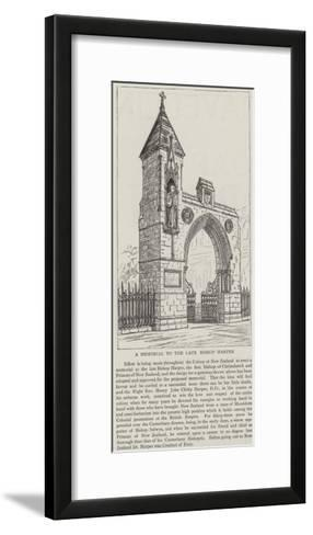 A Memorial to the Late Bishop Harper--Framed Art Print
