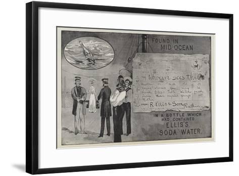 Advertisement for Ellis's Soda Water--Framed Art Print