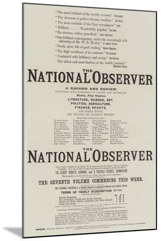Advertisement, the National Observer--Mounted Giclee Print