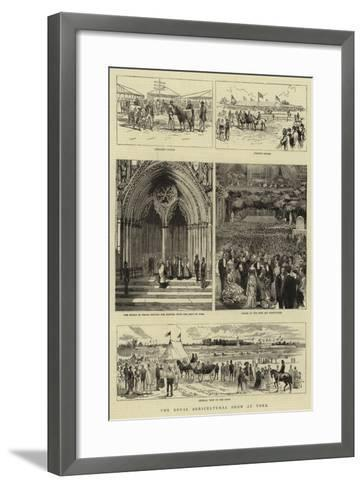 The Royal Agricultural Show at York--Framed Art Print