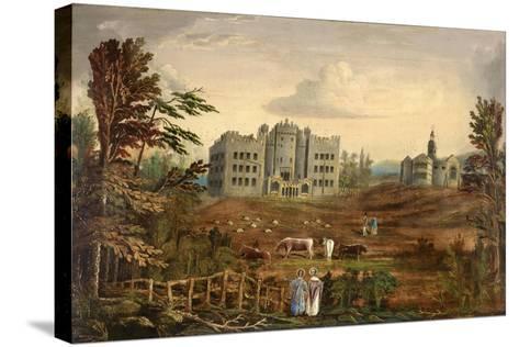 Hylton Castle, Sunderland C.1830--Stretched Canvas Print