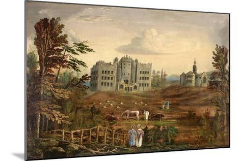 Hylton Castle, Sunderland C.1830--Mounted Giclee Print