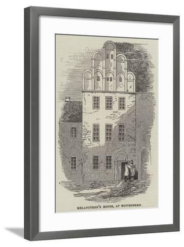 Melancthon's House, at Wittenberg--Framed Art Print