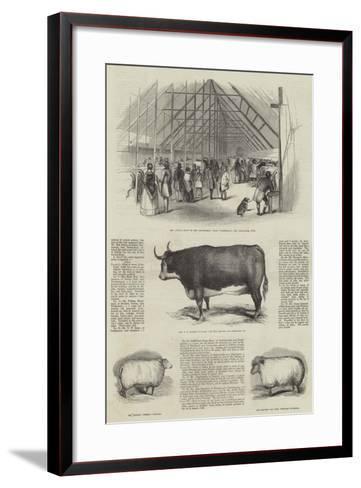 Smithfield Club Prize Cattle Show--Framed Art Print
