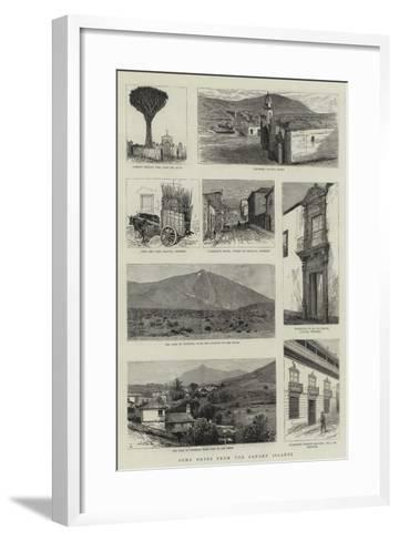 Some Notes from the Canary Islands--Framed Art Print
