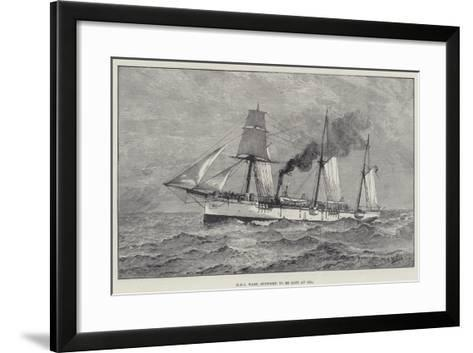 HMS Wasp, Supposed to Be Lost at Sea--Framed Art Print
