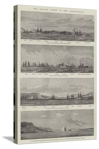 The British Fleet in the Dardanelles--Stretched Canvas Print