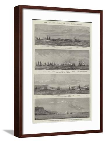 The British Fleet in the Dardanelles--Framed Art Print