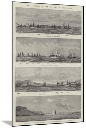 The British Fleet in the Dardanelles--Mounted Giclee Print