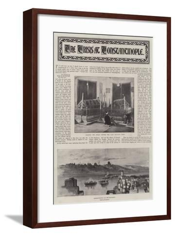 The Crisis at Constantinople--Framed Art Print