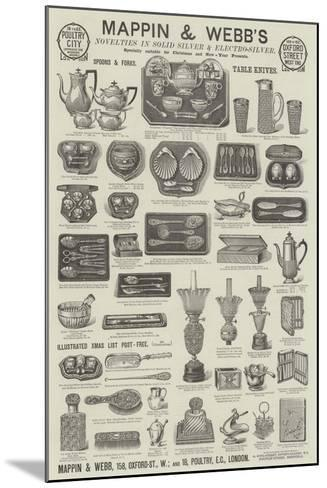 Advertisement, Mappin and Webb--Mounted Giclee Print