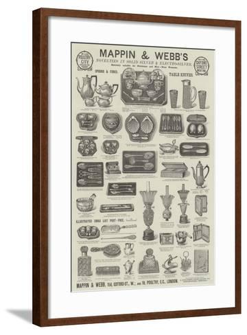 Advertisement, Mappin and Webb--Framed Art Print