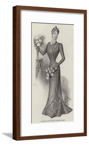 A Black-And-White Indoor Dress--Framed Art Print